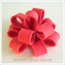 Fondant Loop bow tutorial