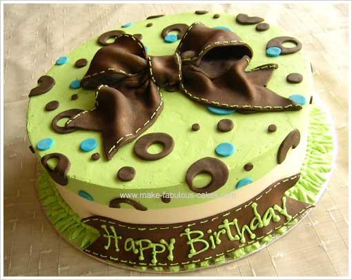 green modern cake
