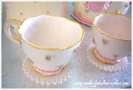 gum paste tea cup tutorial
