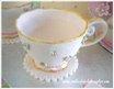 Gum paste teacup