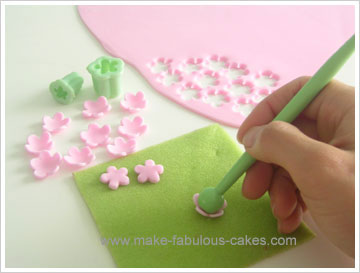 ball tool for gum paste flower