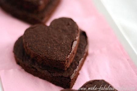 heart brownie