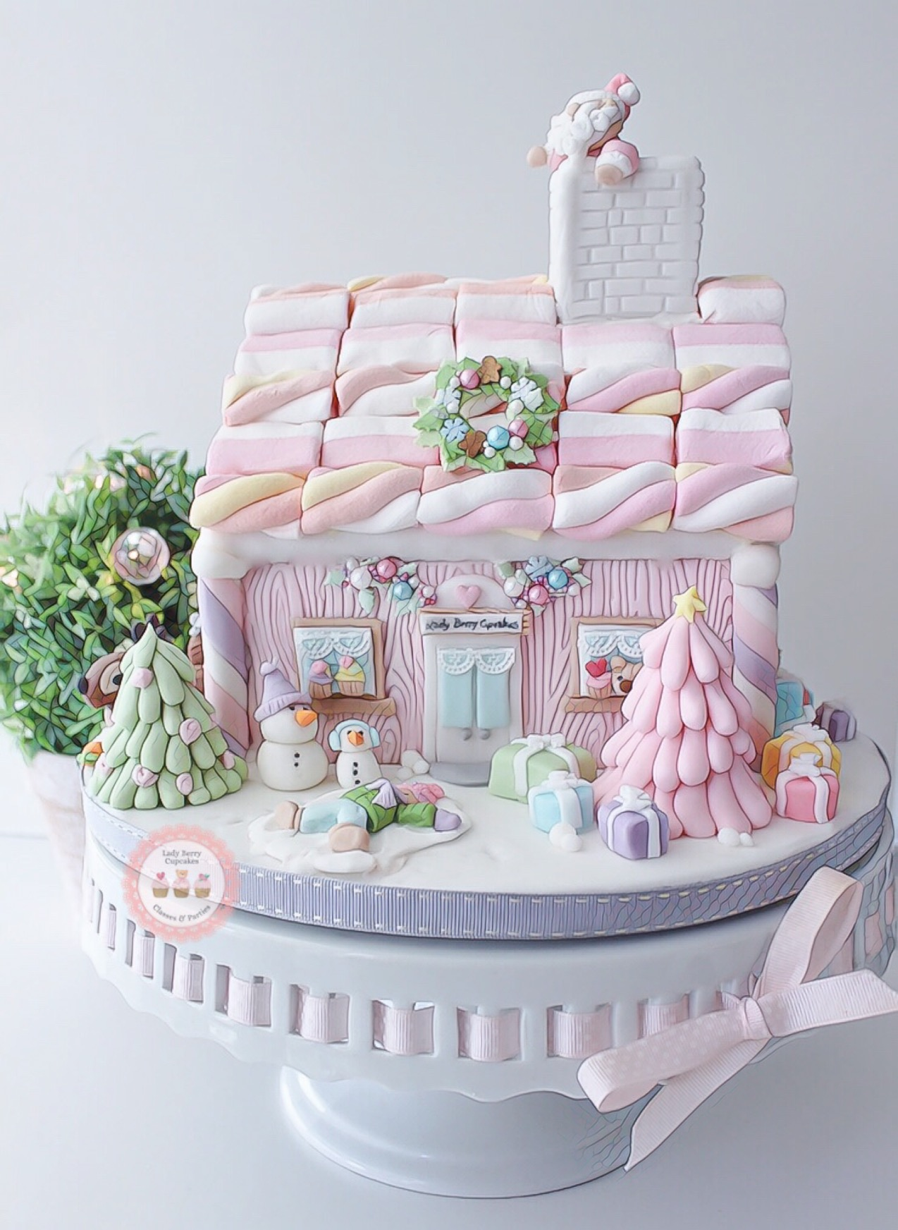 Pastel gingerbread house