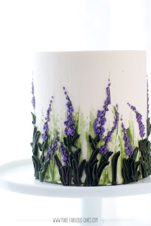 Lavender Lemon Cake with White Chocolate Buttercream