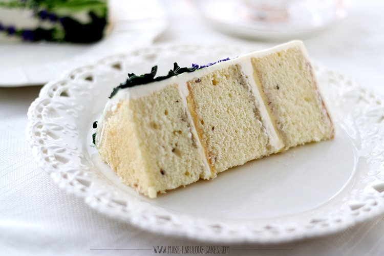 lavander cake slice