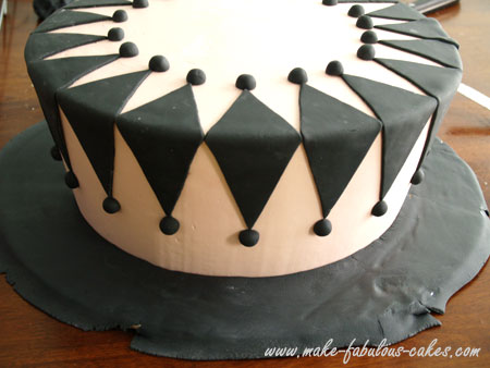 diamond fondant design