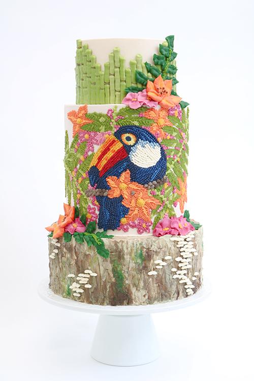 Queen of Hearts Custom Cake  Tropical Buttercream Cake