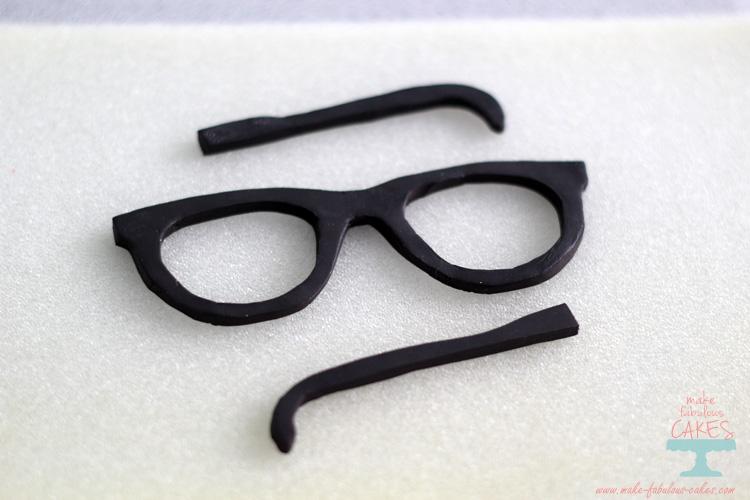 Gum paste eyeglasses