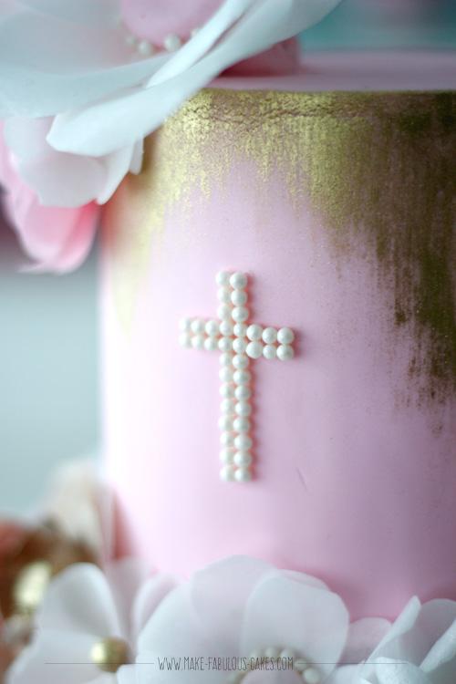 edible pearl beads cross