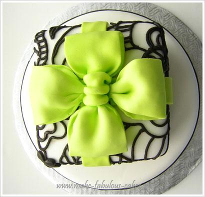wedding shower cake bow
