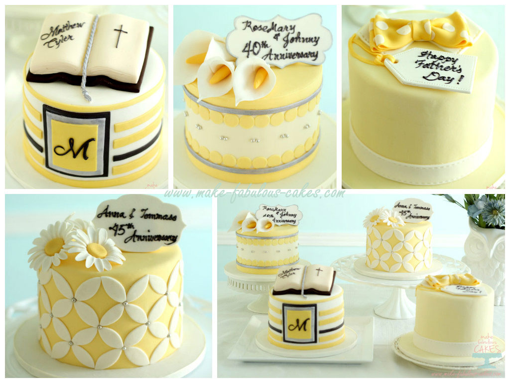 Yellow and Silver cakes